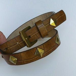 Betsey Johnson Brown Studded Belt